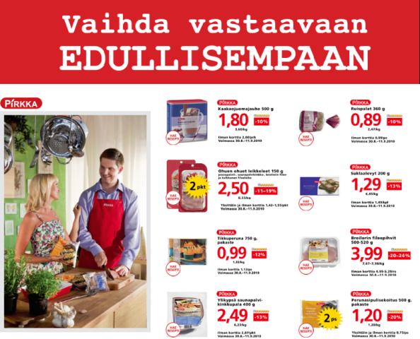 Osoitteesta www.pirkka.fi/vaihda, 8. syyskuuta 2010.