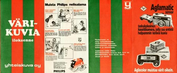 Yhteiskuva Oy värikuvia Philips nelisalama Agfa